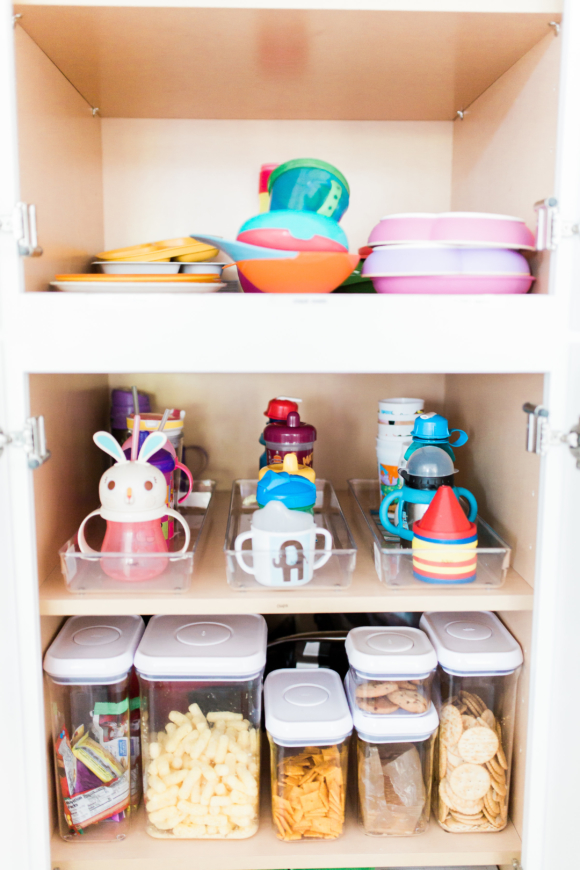 organized kitchen cupboard