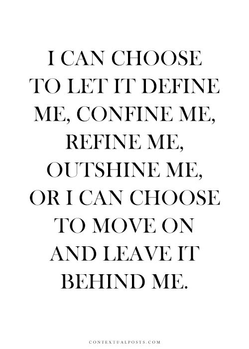 Behind me quote
